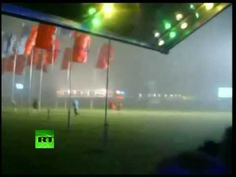 Video of Pukkelpop stage collapse as storm sweeps Belgium festival