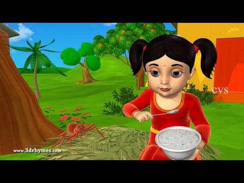 Little Miss Muffet - 3D Animation English Nursery rhymes for children with lyrics