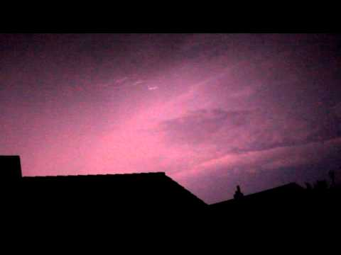 Gewitter mit extremer Blitzrate (Stroboskopgewitter), Thunderstorm in Germany with extreme lightning
