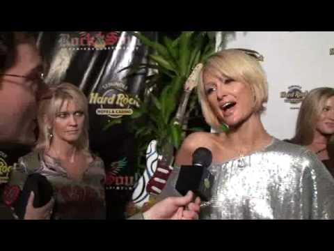 Paris Hilton Super Bowl Party Tampa Hard Rock 2009 Parties XLIII Red Carpet Interview - UCbT8kHafnU8m-uRxEZGiqdg