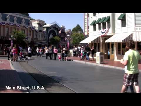 Full Walking tour of Disneyland in HD 2010 - using Steadicam Stabilizer test - Part 1