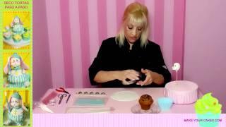 Cupcakes Decorados - Cómo decorar cupcakes con fondant, pasta de goma y glaseado