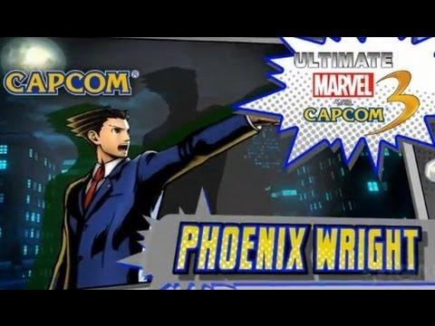 Ultimate Marvel Vs. Capcom 3: Phoenix Wright Trailer