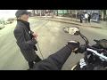 Байкеры помогают людям и животным на дорогах