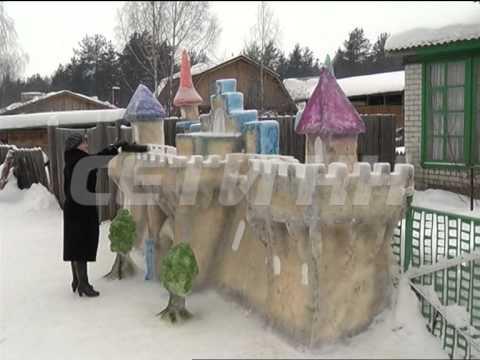 Жительница поселка Виля соорудила музей ледяных скульптур