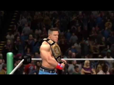 WWE 12 - Gameplay - CM Punk vs John Cena at Money in the Bank