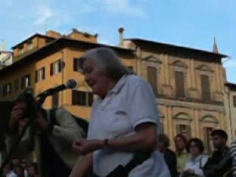 Margherita Hack - lezione in Piazza della Signoria a Firenze