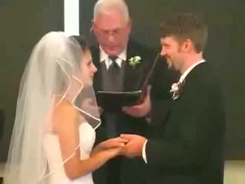 Funny Wedding day Vows moment