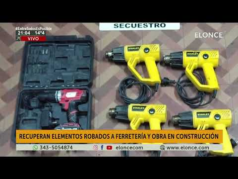 Recuperan elementos robados en ferretería y obra en construcción