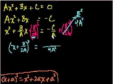 Dimostrazione della Formula Quadratica