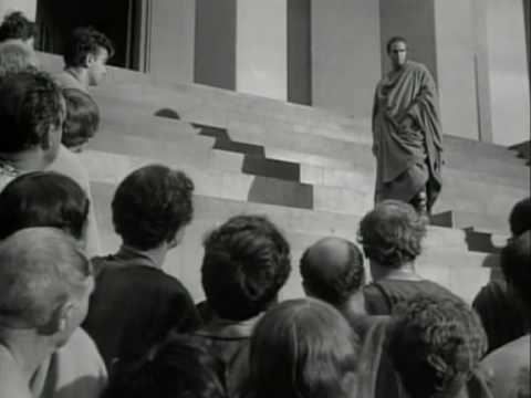 Julius Caesar (1953) - Mark Antony monologue 2/2