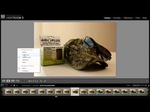 How to Edit RAW Files in Lightroom - Quick Tip - Changing the Background Color Around Your Photo