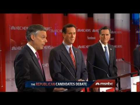 "NBC News/Facebook/Union Leader ""Meet The Press"" Republican Debate in Concord, NH (January 8th, 2012)"