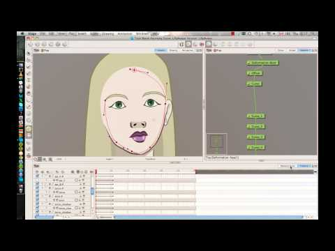 Week 3 of Rigging a Head in Animate Pro or Harmony - Part 2