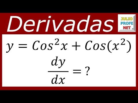 Derivada de una función que contiene expresiones trigonométricas