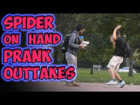 Spider On Hand Prank Outtakes