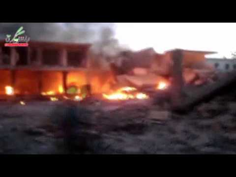 Raw: Attacks, Explosions on Syrian Town