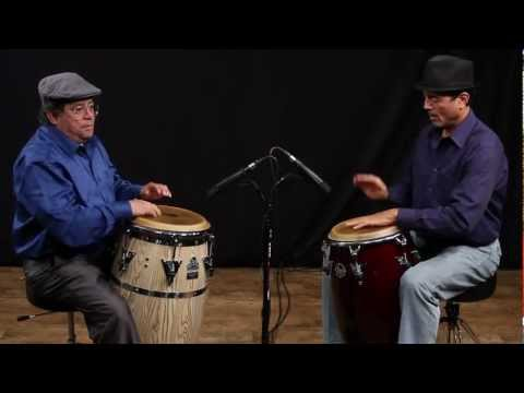 Giovanni Hidalgo and John Santos on Congas