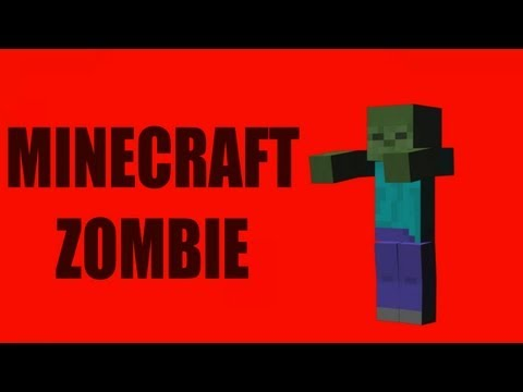 Red Screen Minecraft Zombie (1080p HD)