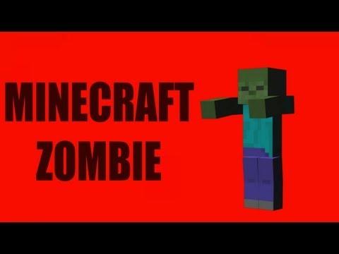 Red Screen Minecraft Zombie (1080p HD)