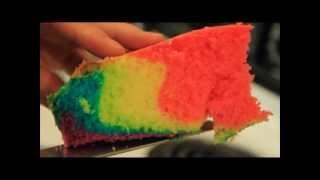 Cómo hacer un pastel de arcoiris (tarta de arco iris)