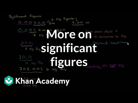 More on Significant Figures