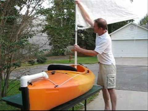 the sailyak - modify your kayak for sailing