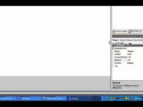 Visual Basic Tutorial - Flashing Label On and Off