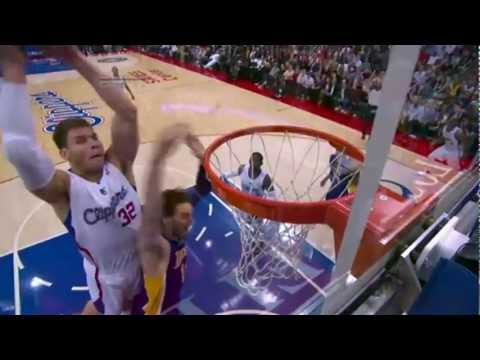 Blake Griffin UNBELIEVABLE Putback Dunk over Pau Gasol