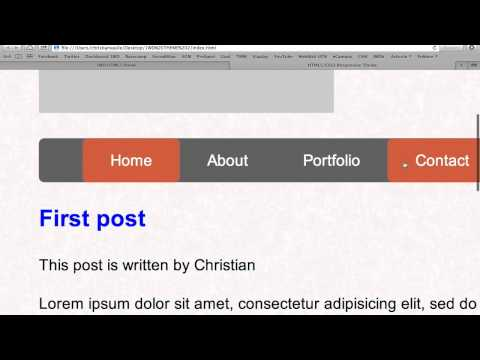 Build a fully-responsive HTML5/CSS3 layout with Christian from 1stwebdesigner