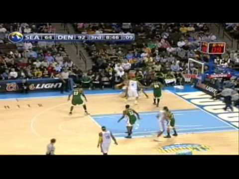 Allen Iverson Highlight vs. Kevin Durant the Sonics 07/08 NBA *Denver Nuggets scored 168pts!