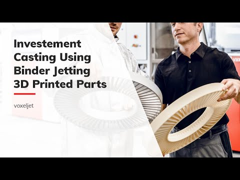 Investment casting using voxeljet 3d printed parts