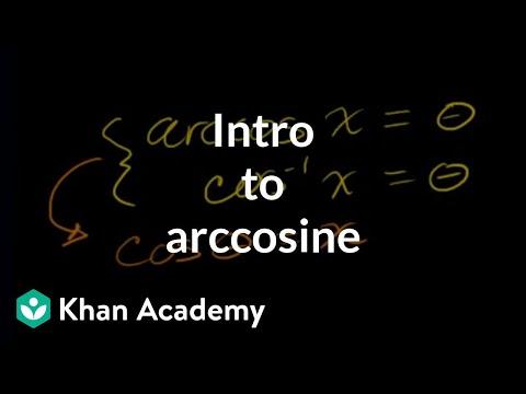 Inverse Trig Functions: Arccos