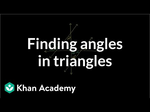Triangle Angle Example 2