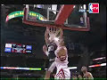Manu Ginobili gets the loose ball and dunks over Yao Ming!