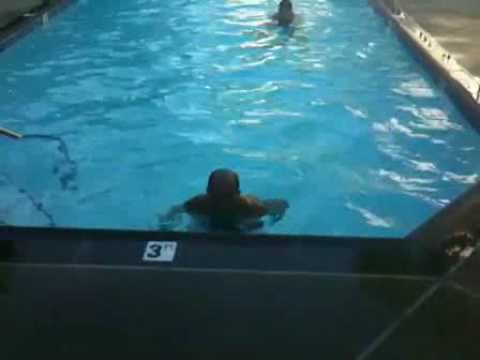 BJ Jumps out of the Pool