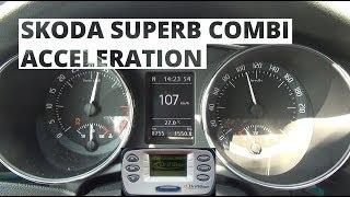 Skoda Superb II Combi 4x4 2.0 TDI 170 KM - acceleration 0-100 km/h