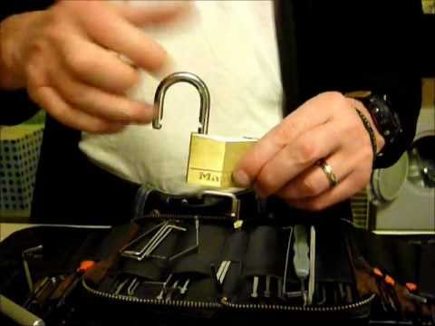Single Pin Picking 50mm Master Dimple Padlock Lock Tutorial VERY QUICK uklocksport.co.uk