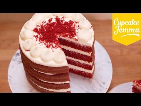 Best Ever Red Velvet Layer Cake Recipe!   Cupcake Jemma