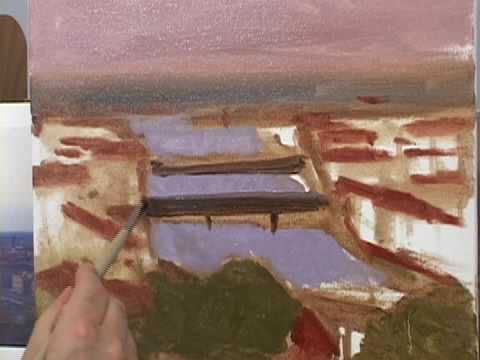 HOW TO PAINT LANDSCAPE DEMONSTRATIONS -- FLORENCE, ITALY BY HALL GROAT II