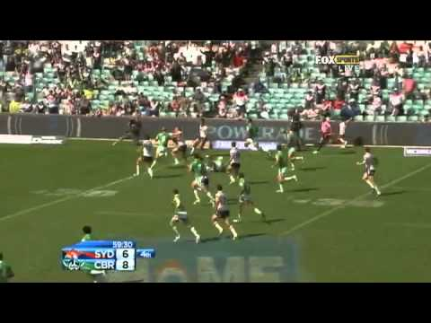NRL 2012 Round 3 Highlights: Roosters V Raiders