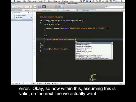 PHP CRUD Basics Closed Captioned - Part 3