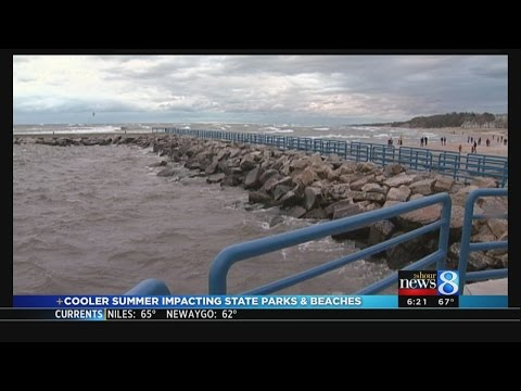 Cooler summer impacts state parks and beaches