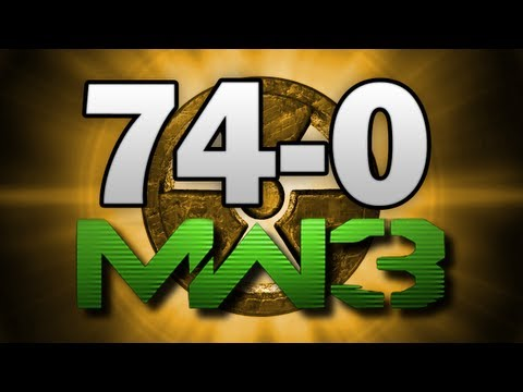 MW3 74-0 Gameplay M.O.A.B. Nuke  FLAWLESS! - (Call of Duty Modern Warfare 3 Multiplayer)