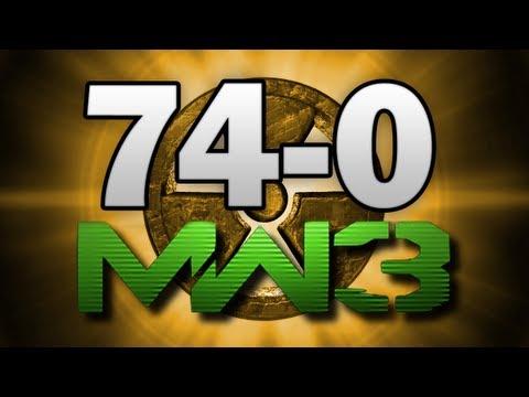 MW3 74-0 Gameplay M.O.A.B. Nuke  FLAWLESS! - (Call of Duty Modern Warfare 3 Multiplayer)