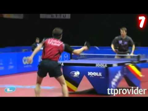 {GO HARD!} Best Table Tennis Shots of 2011 {LOL}