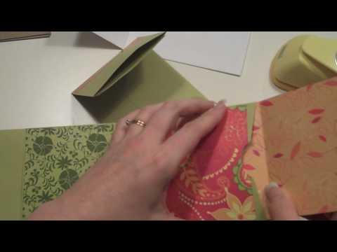 Long Envelope Mini Scrapbook Album Tutorial