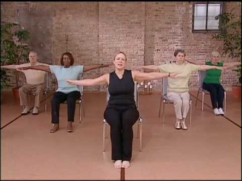'Core Fitness' Chair Pilates Workout - Abdominal Exercise for Seniors, Chair Exercise