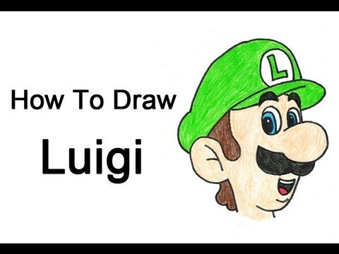 How to Draw Luigi (Mario Bros.)