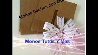 Youtube Molde De Carton Para Moños Paso A Paso Bow Making Template